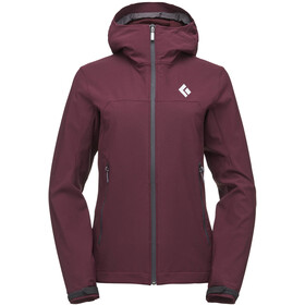 Black Diamond Dawn Patrol Shell Jacket Women bordeaux